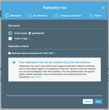 replication rule page