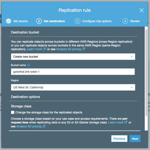 replication bucket options